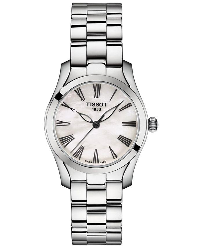 Tissot - Women's Swiss  T-Wave Premium Stainless Steel Bracelet Watch 30mm