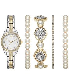 Women's Two-Tone Bracelet Watch 27.5mm Box Set