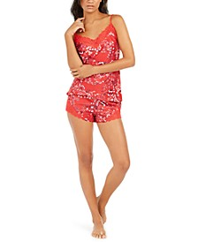 Women's Lace-Trim Cami & Short Pajama Set