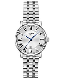 Women's Swiss Carson Premium Stainless Steel Bracelet Watch 30mm