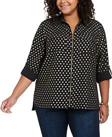 Michael Michael Kors Plus Size Shine Logo Utility Shirt