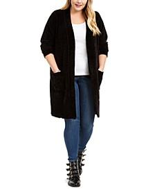 Plus Size Chenille Coatigan