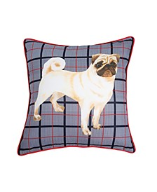 G.H. Bass Pug Plaid 20x20 Decorative Pillow