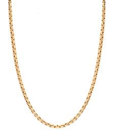 "14K Yellow Gold Diamond Cut 1.5 mm Round Box 22"" Chain"