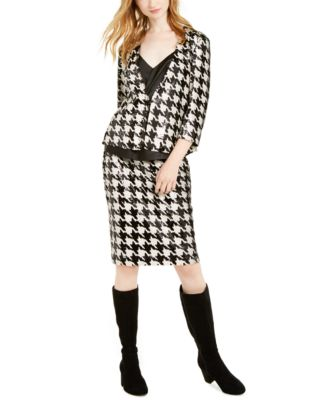 INC  Sequined Houndstooth Pencil Skirt, Created For Macy's