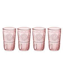 Light Pink Romantic Water Glass, Set of 4