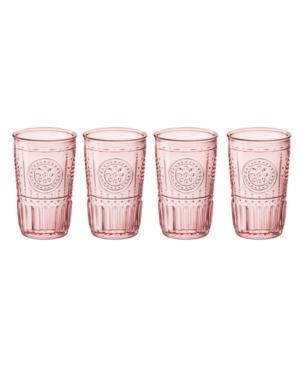 Bormioli Rocco Light Pink Romantic Water Glass, Set of 4