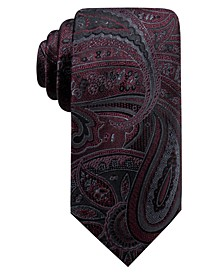 Men's Matilda Slim Paisley Silk Tie, Created For Macy's