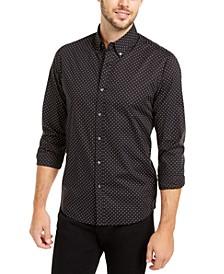 Men's Slim-Fit Stretch Mini-Dot Shirt
