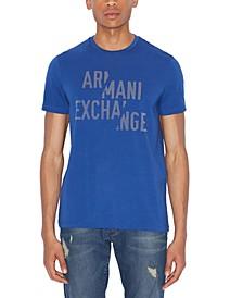 Men's Slashed Monochromatic AX Logo T-Shirt