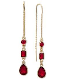 Crystal Teardrop Threader Earrings, Created For Macy's