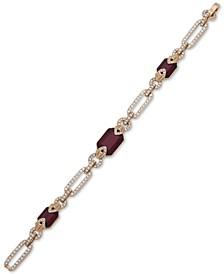 Pavé Link & Stone Flex Bracelet