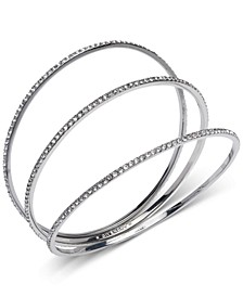 3-Pc. Pavé Bangle Bracelets Set