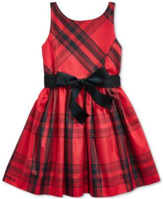 Little Girl's Plaid Taffeta Dress