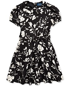 Toddler Girl's Floral Belted Fit-and-Flare Dress