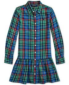 Girl's Plaid Cotton Shirtdress