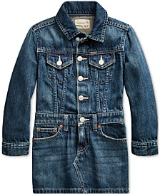 Toddler Girl's Cotton Denim Trucker Dress