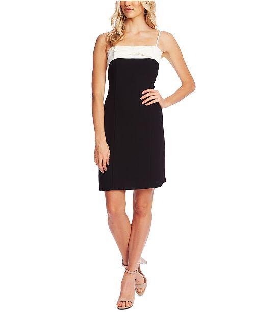 CeCe Colorblock Bow Dress