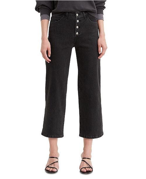 Levi's Women's Mile High Cropped Button-Fly Jeans