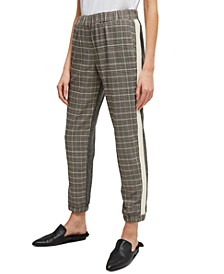 Amati Checked Pull-On Jogger Pants
