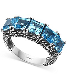 EFFY® Blue Topaz Five-Stone Statement Ring (4-3/8 ct. t.w.) in Sterling Silver
