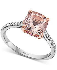 EFFY® Multi-Gemstone (2-1/10 ct. t.w.) & Diamond (1/10 ct. t.w.) Statement Ring in 14k White & Rose Gold