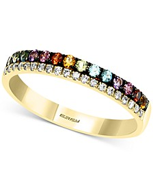 EFFY® Multi-Gemstone (1/2 ct. t.w.) & Diamond (1/20 ct. t.w.) Band in 14k Gold