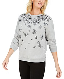 Floral-Print Fleece Sweatshirt, Created for Macy's