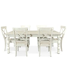Aberdeen Expandable Dining 7-Pc. Set (Table & 6 Side Chairs)
