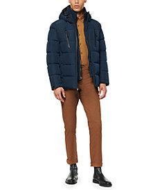 Marc New York Men's Montrose Down Mid-Length Waterproof Hooded Puffer Jacket
