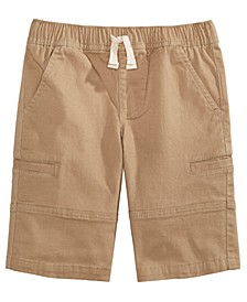 Toddler Boys Stretch Twill Cargo Shorts, Created For Macy's