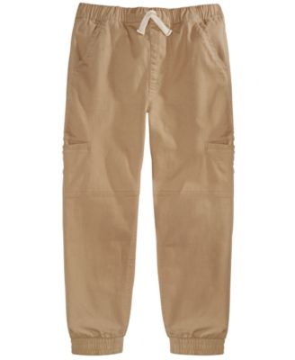 Little Boys Stretch Twill Cargo Joggers, Created For Macy's