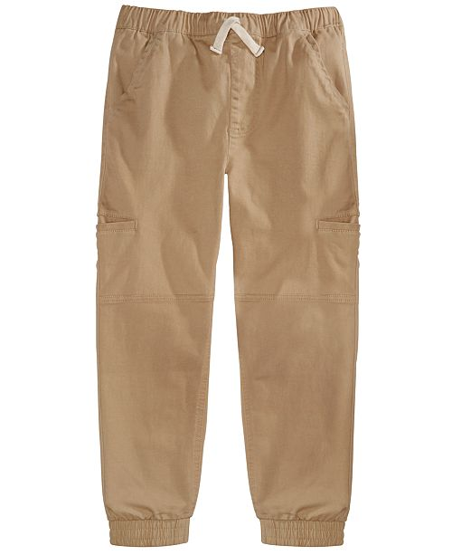 Epic Threads Little Boys Stretch Twill Cargo Joggers, Created For Macy's