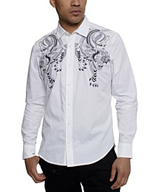 Men's Embroidered Tiger Shirt
