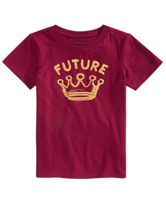 Little Boys Future-Print T-Shirt, Created For Macy's