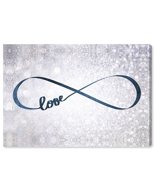 "Oliver Gal Sparkle Love Snow Canvas Art, 45"" x 30"""