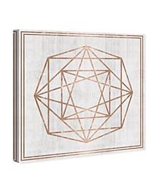 "Whitewash Wood Geometric Octagon Canvas Art, 43"" x 43"""