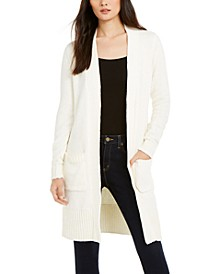 Open-Front Patch-Pocket Cardigan, Regular & Petite