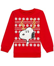 Little Boys Snoopy Reindeer Holiday Sweatshirt