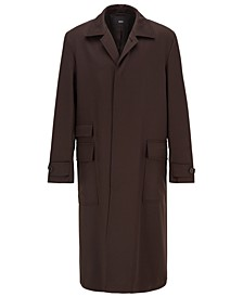 BOSS Men's Rogen Relaxed-Fit Water-Repellent Coat