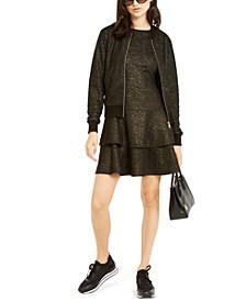 Shimmer Dress & Bomber Jacket