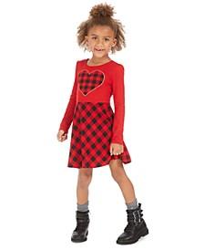 Little Girls Heart Plaid Dress, Created For Macy's