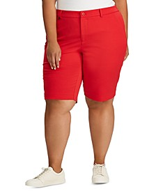 Plus Size Stretch Cotton Twill Short