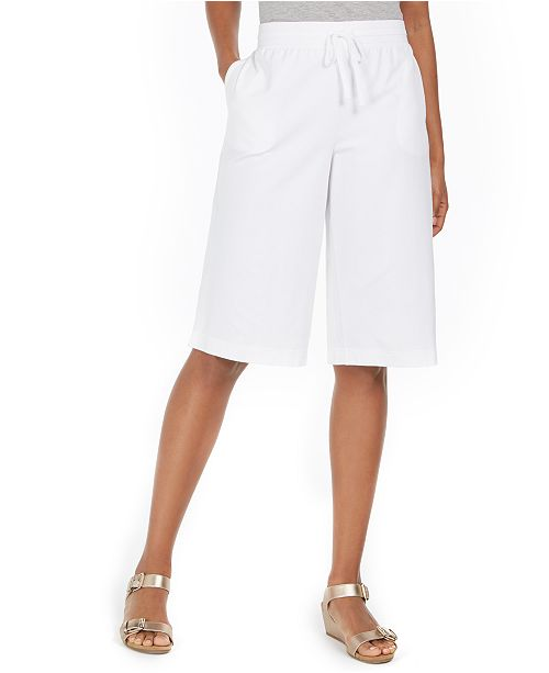 Karen Scott Sport Knit Skimmer Pants, Created For Macy's