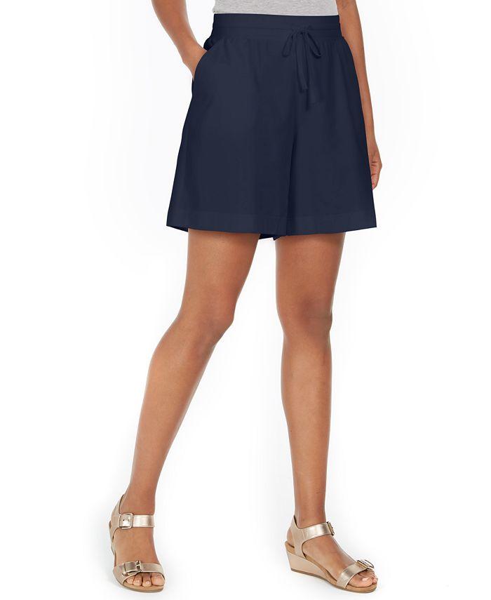 Karen Scott - Pull-On Drawstring Shorts, Created For Macy's
