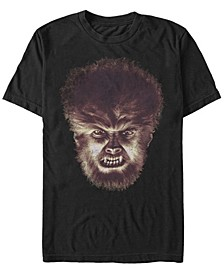 Universal Monsters Men's Angry Wolfman Big Face Short Sleeve T-Shirt
