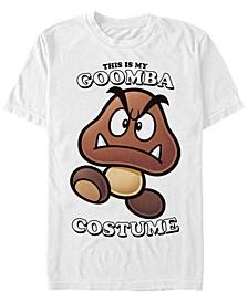 Nintendo Men's Super Mario Goomba Halloween Costume Short Sleeve T-Shirt