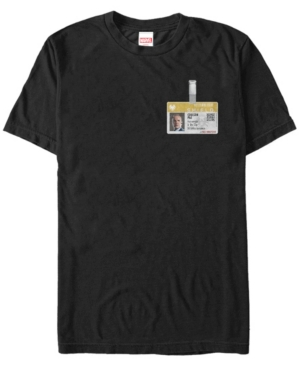 Marvel Men's S.h.i.e.l.d. Phil Coulson Id Badge Short Sleeve T-Shirt
