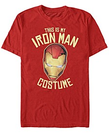 Marvel Men's Avengers Iron Man Halloween Costume Short Sleeve T-Shirt