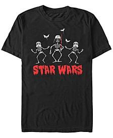Star Wars Men's Darth Vader Storm trooper Skeletons Short Sleeve T-Shirt